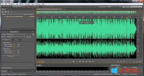 Στιγμιότυπο οθόνης Adobe Audition Windows 8.1