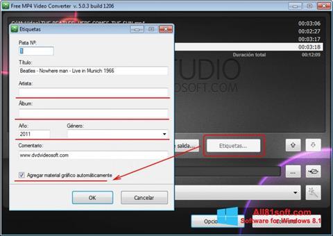 Στιγμιότυπο οθόνης Free MP4 Video Converter Windows 8.1