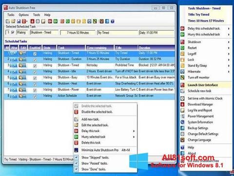 Στιγμιότυπο οθόνης Auto ShutDown Windows 8.1