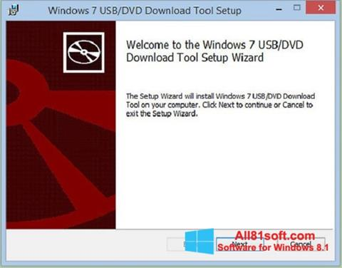 Στιγμιότυπο οθόνης Windows 7 USB DVD Download Tool Windows 8.1