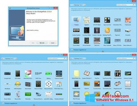 Στιγμιότυπο οθόνης 8GadgetPack Windows 8.1