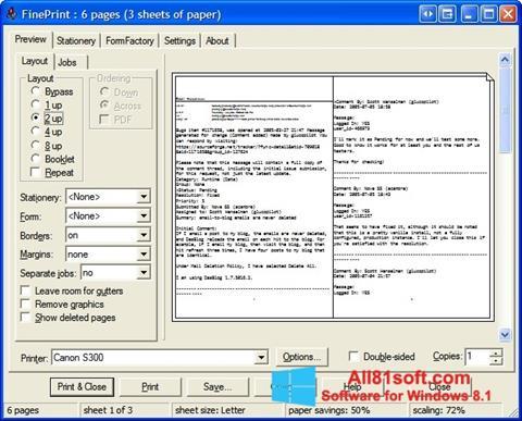 Στιγμιότυπο οθόνης FinePrint Windows 8.1