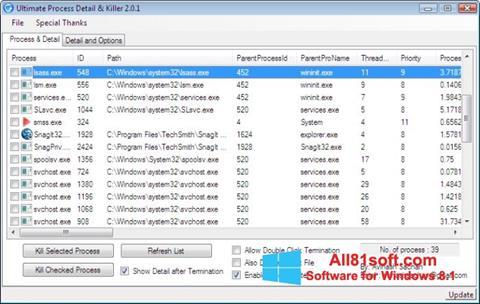 Στιγμιότυπο οθόνης Process Killer Windows 8.1