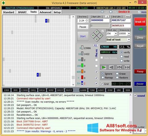 Στιγμιότυπο οθόνης Victoria Windows 8.1