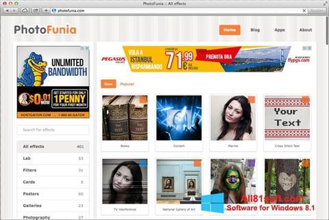 Στιγμιότυπο οθόνης PhotoFunia Windows 8.1