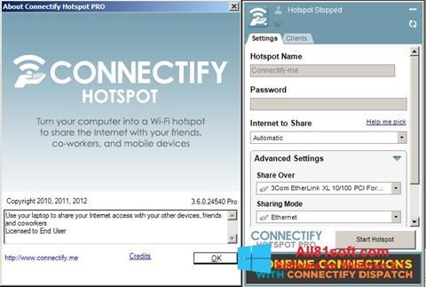 Στιγμιότυπο οθόνης Connectify Windows 8.1