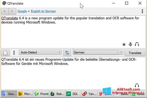 Στιγμιότυπο οθόνης QTranslate Windows 8.1