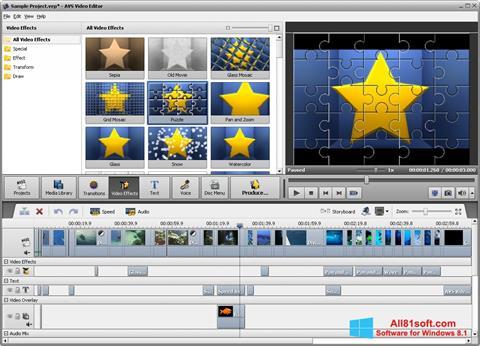 Στιγμιότυπο οθόνης AVS Video Editor Windows 8.1