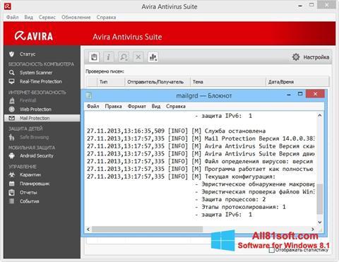 Στιγμιότυπο οθόνης Avira Windows 8.1