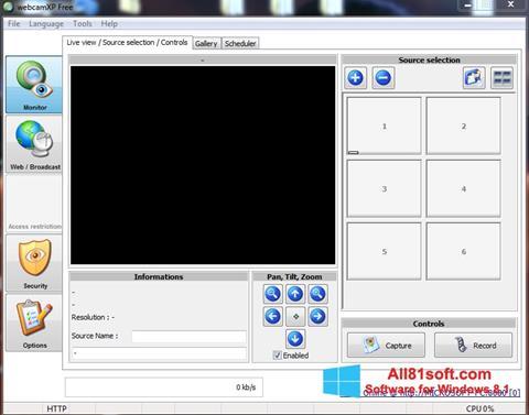 Στιγμιότυπο οθόνης webcamXP Windows 8.1