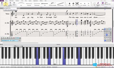 Στιγμιότυπο οθόνης Sibelius Windows 8.1
