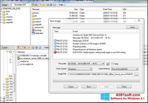 Στιγμιότυπο οθόνης UltraISO Windows 8.1