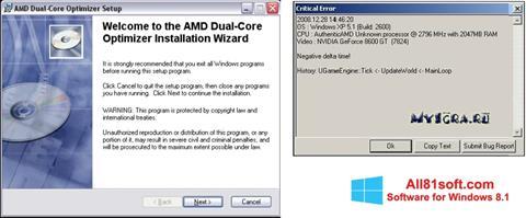 Στιγμιότυπο οθόνης AMD Dual Core Optimizer Windows 8.1