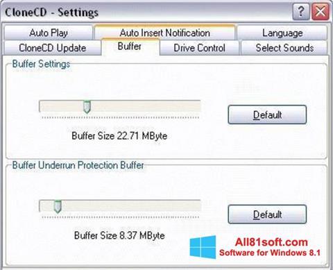 Στιγμιότυπο οθόνης CloneCD Windows 8.1