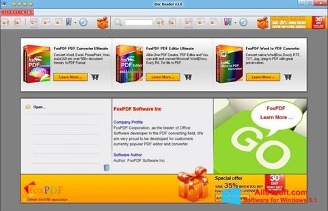 Στιγμιότυπο οθόνης Doc Reader Windows 8.1