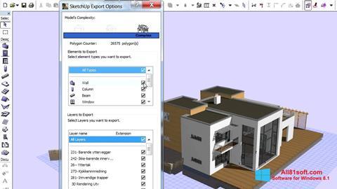 Στιγμιότυπο οθόνης ArchiCAD Windows 8.1