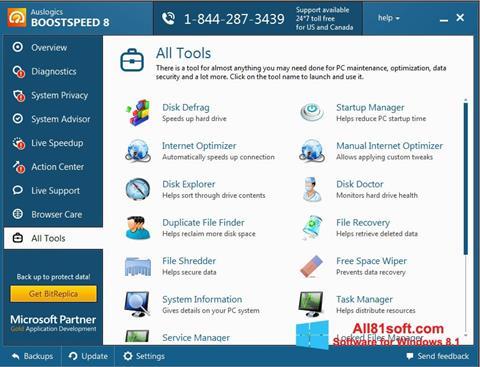 Στιγμιότυπο οθόνης Auslogics BoostSpeed Windows 8.1