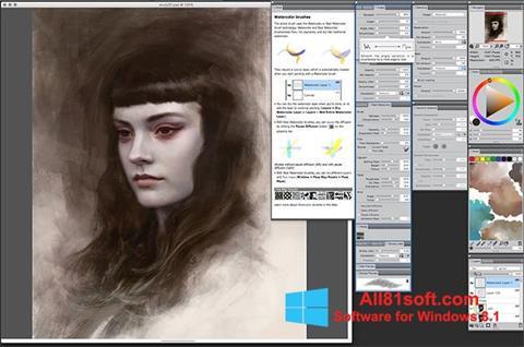 Στιγμιότυπο οθόνης Corel Painter Windows 8.1