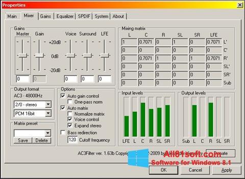 Στιγμιότυπο οθόνης AC3 Codec Windows 8.1