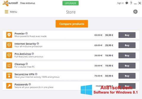Στιγμιότυπο οθόνης Avast Free Antivirus Windows 8.1