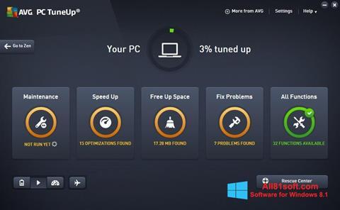 Στιγμιότυπο οθόνης AVG PC Tuneup Windows 8.1