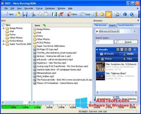 Στιγμιότυπο οθόνης Nero Burning ROM Windows 8.1