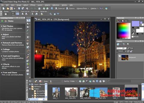 Στιγμιότυπο οθόνης PaintShop Pro Windows 8.1
