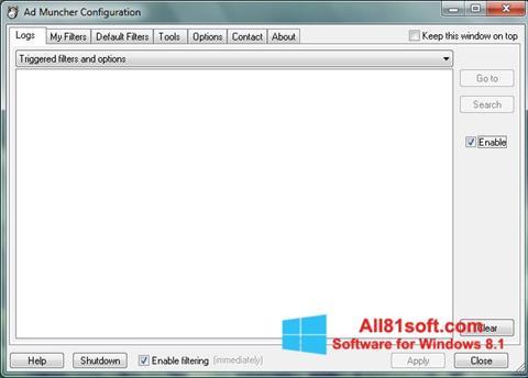 Στιγμιότυπο οθόνης Ad Muncher Windows 8.1