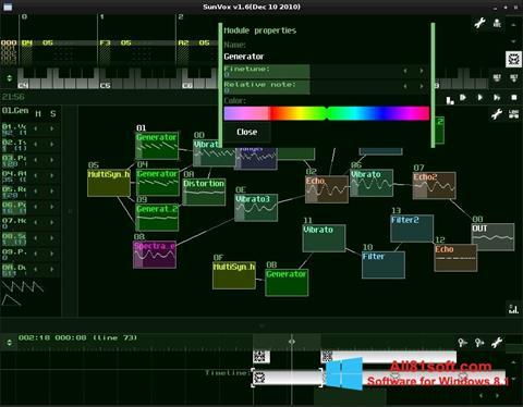 Στιγμιότυπο οθόνης SunVox Windows 8.1