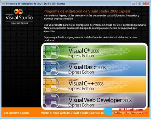 Στιγμιότυπο οθόνης Microsoft Visual Studio Windows 8.1