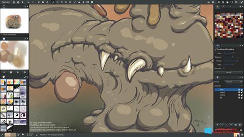 Στιγμιότυπο οθόνης MyPaint Windows 8.1