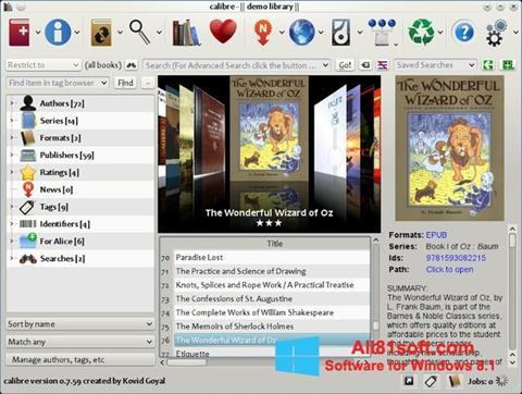 Στιγμιότυπο οθόνης Calibre Windows 8.1