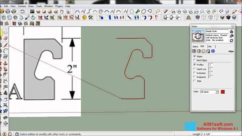Στιγμιότυπο οθόνης SketchUp Windows 8.1