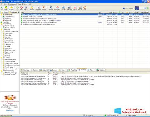 Στιγμιότυπο οθόνης BitComet Windows 8.1