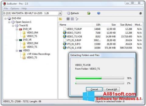 Στιγμιότυπο οθόνης IsoBuster Windows 8.1