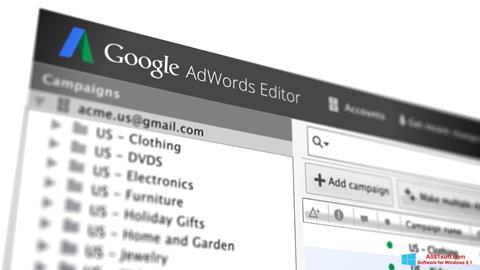 Στιγμιότυπο οθόνης AdWords Editor Windows 8.1