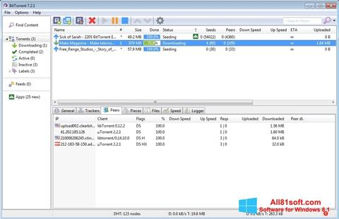 Στιγμιότυπο οθόνης BitTorrent Windows 8.1