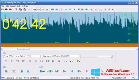 Στιγμιότυπο οθόνης mp3DirectCut Windows 8.1