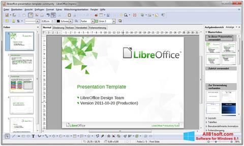Στιγμιότυπο οθόνης LibreOffice Windows 8.1