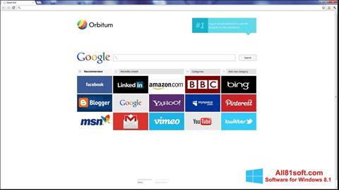 Στιγμιότυπο οθόνης Orbitum Windows 8.1
