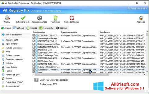 Στιγμιότυπο οθόνης Vit Registry Fix Windows 8.1
