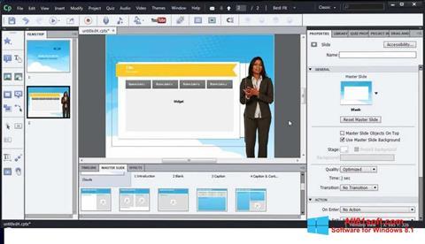 Στιγμιότυπο οθόνης Adobe Captivate Windows 8.1