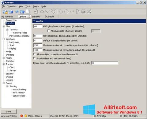 Στιγμιότυπο οθόνης Vuze Windows 8.1