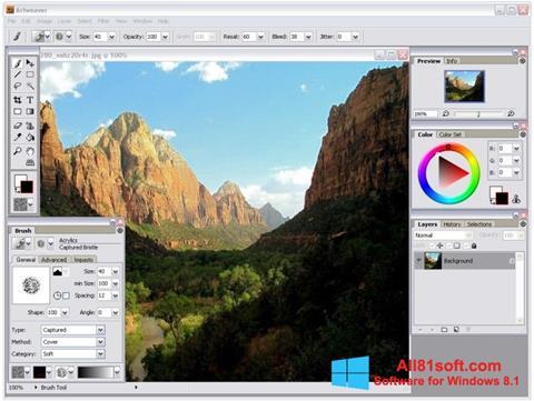 Στιγμιότυπο οθόνης Artweaver Windows 8.1