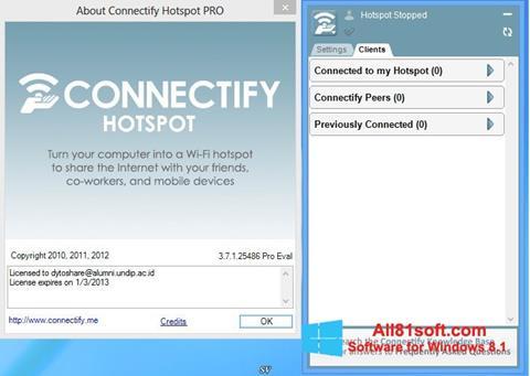 Στιγμιότυπο οθόνης Connectify Hotspot Windows 8.1