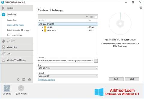 Στιγμιότυπο οθόνης DAEMON Tools Lite Windows 8.1