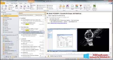 Στιγμιότυπο οθόνης Microsoft Outlook Windows 8.1