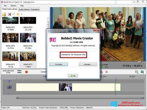 Στιγμιότυπο οθόνης Bolide Movie Creator Windows 8.1