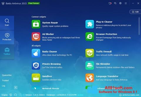 Στιγμιότυπο οθόνης Baidu Antivirus Windows 8.1