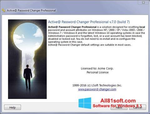 Στιγμιότυπο οθόνης Active Password Changer Windows 8.1